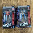 Transformers WFC Siege Trilogy Seekers lot Thundercracker & Starscream NIB