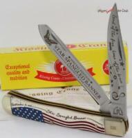 Kissing Crane 2019 USA Star Spangled Banner 2 Blade Trapper Folding Pocket Knife