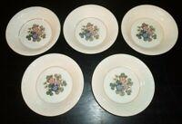 "(5) Wedgwood Corinthian PEMBROKE 5 1/2"" Fruit / Dessert Bowls"