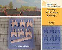 Model Railway CHIMNEYS Mould- OO Gauge Railway Scenery - CP02