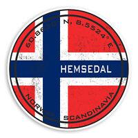 2 x 10cm Hemsedal Vinyl Stickers - Norway Flag Sticker Laptop Luggage #20216