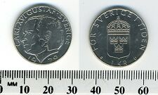 Sweden 1979 - 1 Krona Copper-Nickel Clad Copper Coin - King Carl XVI Gustaf