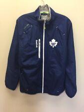 Vintage Toronto Maple Leafs Reebok Windbreaker Light Jacket Size Small Blue