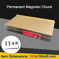 Rectangular Permanent Magnetic Chuck Durable Magnetic Table 12'' x 6'' Fine Pole