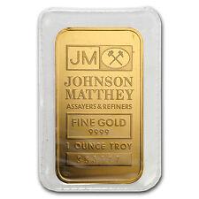 1 oz Gold Bar - Johnson Matthey (Random Design) - SKU #52938