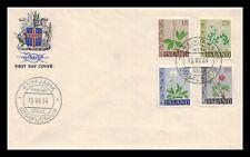 Iceland 1964 FDC, Flowers III. Lot # 17.