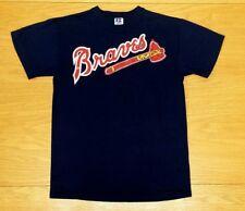 "ATLANTA BRAVES Logo ""Jacob # 14"" Russell Short Sleeve T-Shirt Size L Youth Large"