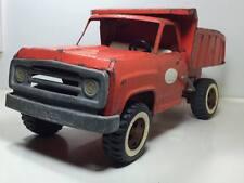 Vintage orange steel Tonka dump truck made in Canada