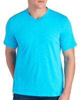 Robert Graham Mens Teal Blue V-Neck Cotton T-Shirt NWT $78 Size S