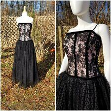 Vintage Escada Margaretha ley Velvet Tulle polka dot Full skirt does 50s Gown