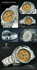 Aerowing Chronograph Mens Watch IN Orange. Special Crown Cover Japan Timepiece