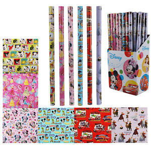 6x Disney Assorted Mix Gift Wrapping Paper 200x70cm Xmas Present Paper Roll Art