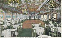 CC-216 CA, Seal Beach, Gus Mann's Jewel City Cafe White Border Postcard Interior