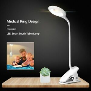USB Flexible Clamp Clip-On LED Light Reading Table Desk Bed Bedside Night Lamp