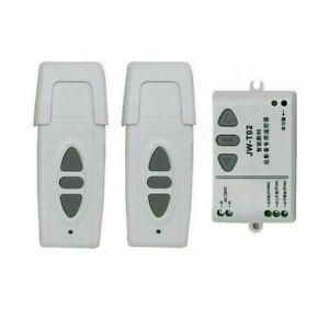 2 Télécommandes Moteur Volet Roulant Installation Électri 220V Store Kit Gestion