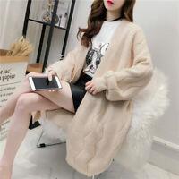 Fall Women's Knitting Cardigans Loose Outwear Jacket Sweater Coat Korean Fashion