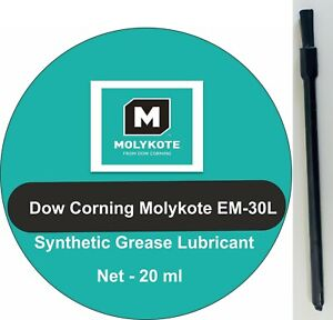 Dow Corning Molykote EM-30L Synthetic Grease + BRUSH ,Audio , Office , Plastic .