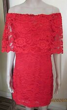 NWT STUNNING RED LACE DRESS SIZE LARGE FEVER FISH 40'' CHEST