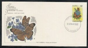 GRENADA Flambeau Butterfly FIRST DAY COVER