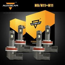 4x Auxbeam H8 H9 H11 LED Headlight Combo for Toyota Tacoma 2016-19 High Low Beam