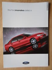 FORD MONDEO ZETEC S 2000 UK Mkt sales brochure