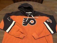 Philadelphia Flyers Orange & Black NHL Majestic Large Hoodie Sweatshirt