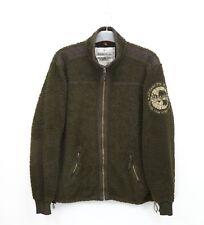 Mens Napapijri Fleece Jacket Sherpa Spell Out Size XXL / 2XL