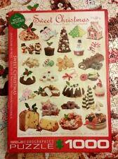 EUROGRAPHICS SWEET CHRISTMAS 1000 PIECE JIGSAW PUZZLE 19 x 26 INCH RECIPE BAKING