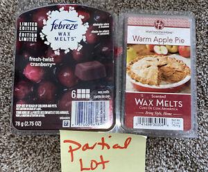 Febreze Fresh Twist Cranberry & Huntington Home 🍎  Warm Apple Pie 🥧 Wax Melts
