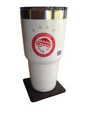 Olympiacos S.F.P. White Insulated Tumbler / Mug Greece Greek Football -Soccer