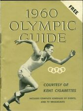 1960 Olympic Guide Booklet Courtesy of Kent Cigarettes