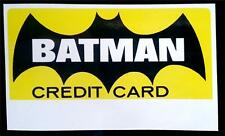 Reproduction 1966 National Periodical BATMAN Credit Card - 2 sided - Adam West