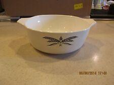 Vintage Anchor Hocking Cookware Black Wheat 1 quart squarish BOWL
