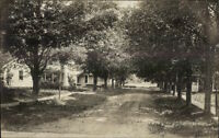 Lisle NY (On Back) Road Scene & Homes c1910 Real Photo Postcard