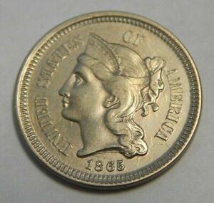 1865 - Three Cent Nickel - 3¢ - High Grade