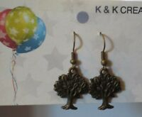 Bronze Color Tree Of Life  Earrings