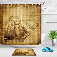 Waterpoof Fabric Bathroom Spa Zen Stones Green Leaves Scene Shower Curtain Hooks