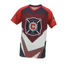 Chicago Fire Official MLS Apparel Kids Youth Size Athletic T-Shirt New with Tags