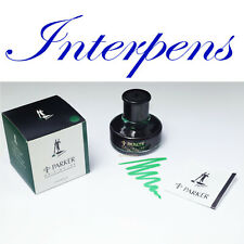 PARKER Emerald Green Fountain Pen Special Writing Ink Design Bottle Inkwell Box