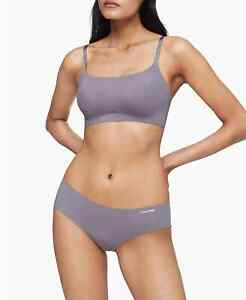 Calvin Klein Invisibles Comfort Lightly Lined Retro Bralette QF4783 Purple XS