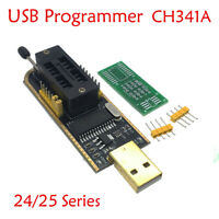 UK 25 SPI Serie 24 EEPROM CH341A BIOS Writer Routing LCD Flash USB Programmer