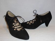 SixtySeven Shoes Women's Scope Lace Up Suede Heels Retail $128 size 5