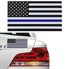 5PCS Creative Police Officer USA American Thin Blue Line Flag Car Decal Sticker