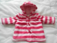 TU baby girls pink fleece warm padded hooded jacket duffle coat 3-6 months
