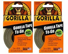 "Gorilla Tape To Go - Gorilla Glue Handy Roll 1"" x 30', Duct Tape - 2 PACK"