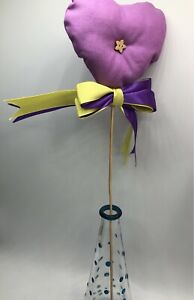 Handmade heart with ribbon detail and pretty vase gift