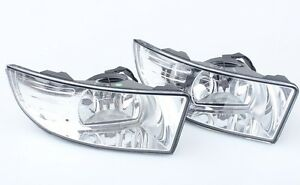 Pair front bumper fog lamp Driving Lights Light For Skoda Superb 2009-2013