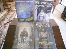 LAST CHRONICLES OF THOMAS COVENANT #1-#4, Stephen R. Donaldson, SIGNED 1sts HCDJ