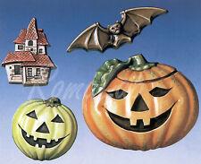 STAMPO con 4 FORMINE Halloween zucca Jack O Lantern casa infestata pipistrello
