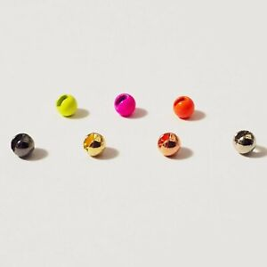 Premium Slotted Tungsten Fly Tying Beads (25 Pack) - 7 Colors, 5 Sizes